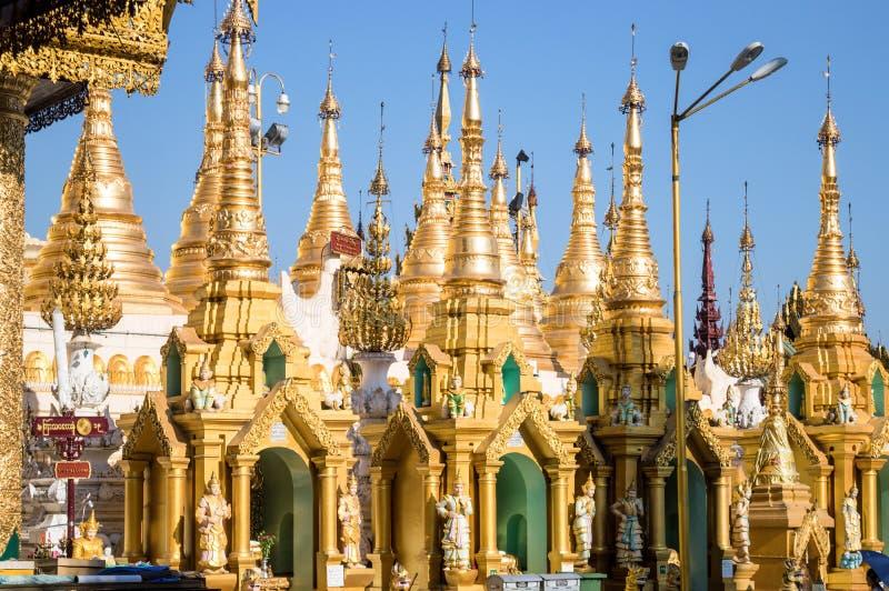 Pagoda in Rangoon, Birmania Myanmar di Shwedagon fotografie stock