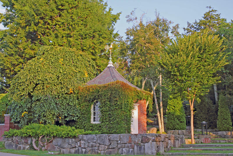 Pagoda Roof Golden Weather Vane Royalty Free Stock Photo
