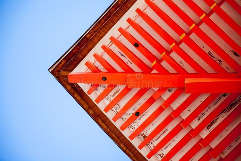 Pagoda roof Kyomizu-dera Temple Kyoto Japan. Pagoda roof and landscape, Kyomizu-dera Temple, Kyoto, Japan royalty free stock images