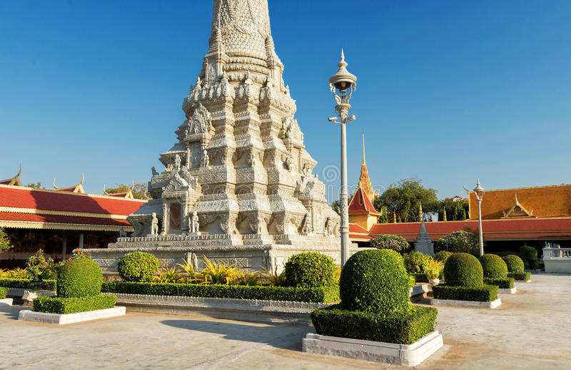 Pagoda/Royal Palace argentés, Phnom Penh, Cambodge photographie stock libre de droits