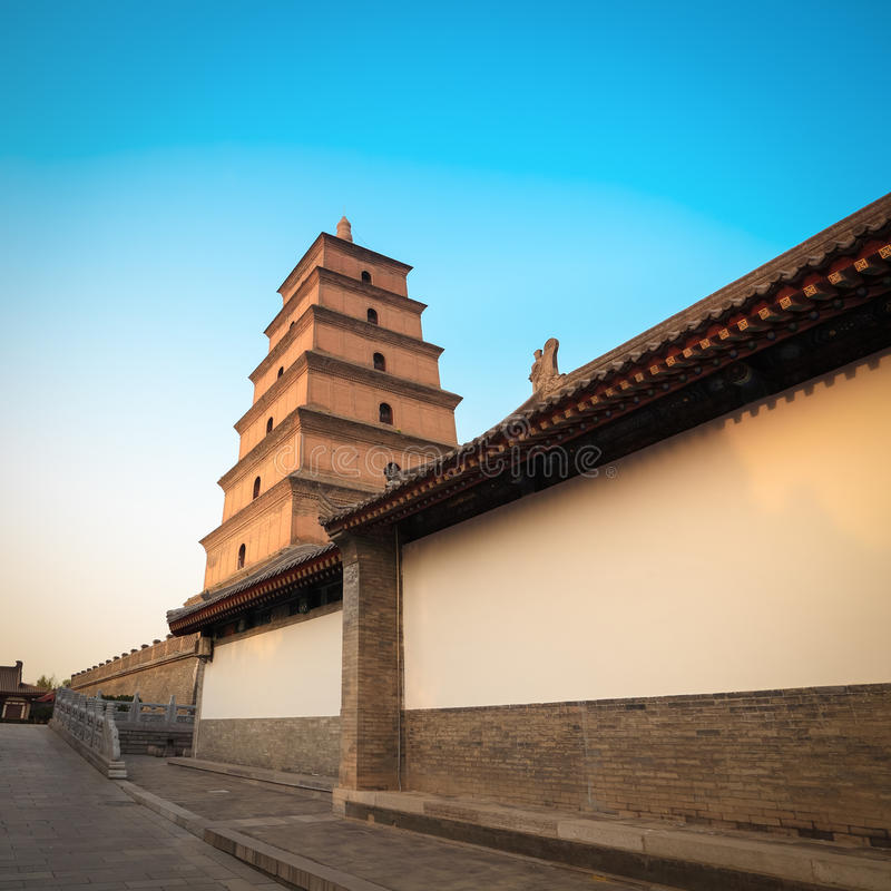 Pagoda sauvage géante chinoise d'oie image stock