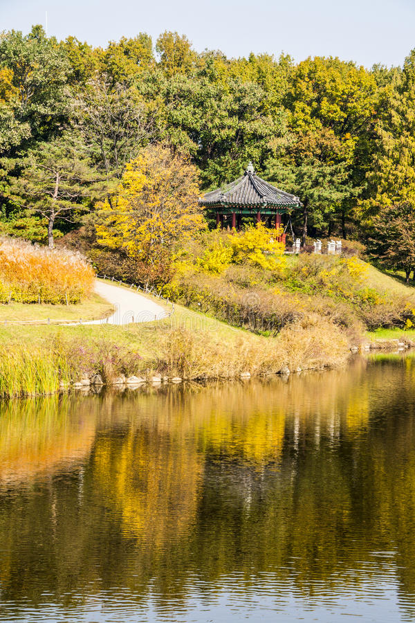 Pagoda in Seoul, South Korea royalty free stock images