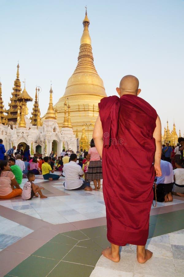 Pagoda Shwedagon à Yangon, Myanmar photographie stock