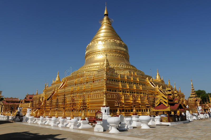 Pagoda Shwezigon stock photos