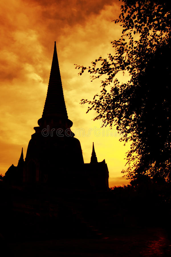 Download Pagoda silhouette stock image. Image of sunset, architecture - 33339419