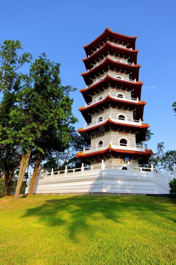 Pagoda in Singapore Chinese Garden royalty free stock photos