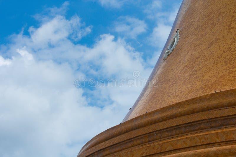 Pagoda with sky. In Nakhon Pathom, Thailand stock photography