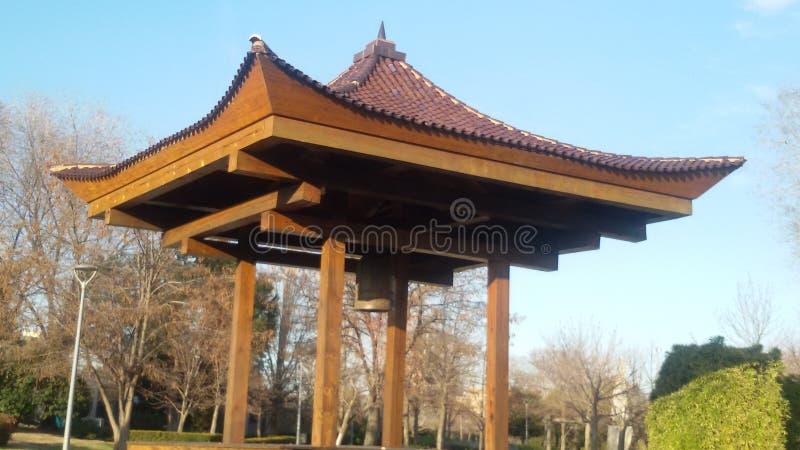 Pagoda in square stock photos