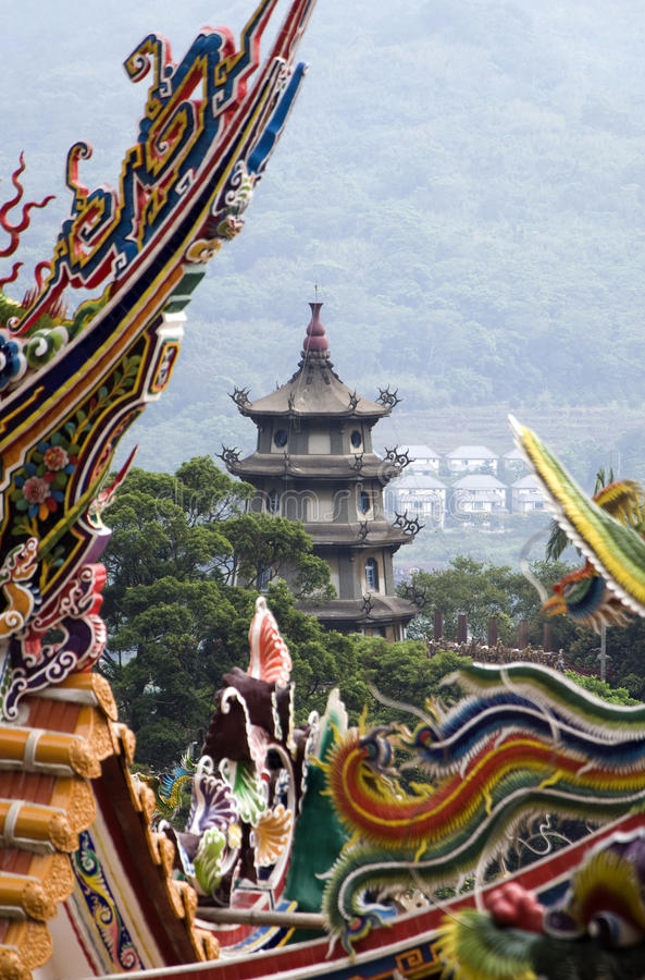 Pagoda, Taiwan images stock