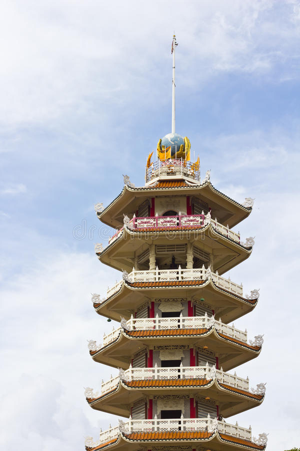 Pagoda in temple stock images