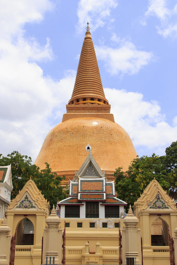Download Pagoda in Thailand stock image. Image of large, phra - 27061023