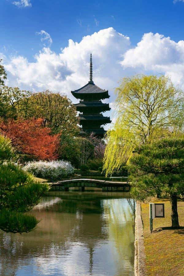 Pagoda of Toji temple, Kyoto in Japan. stock photo