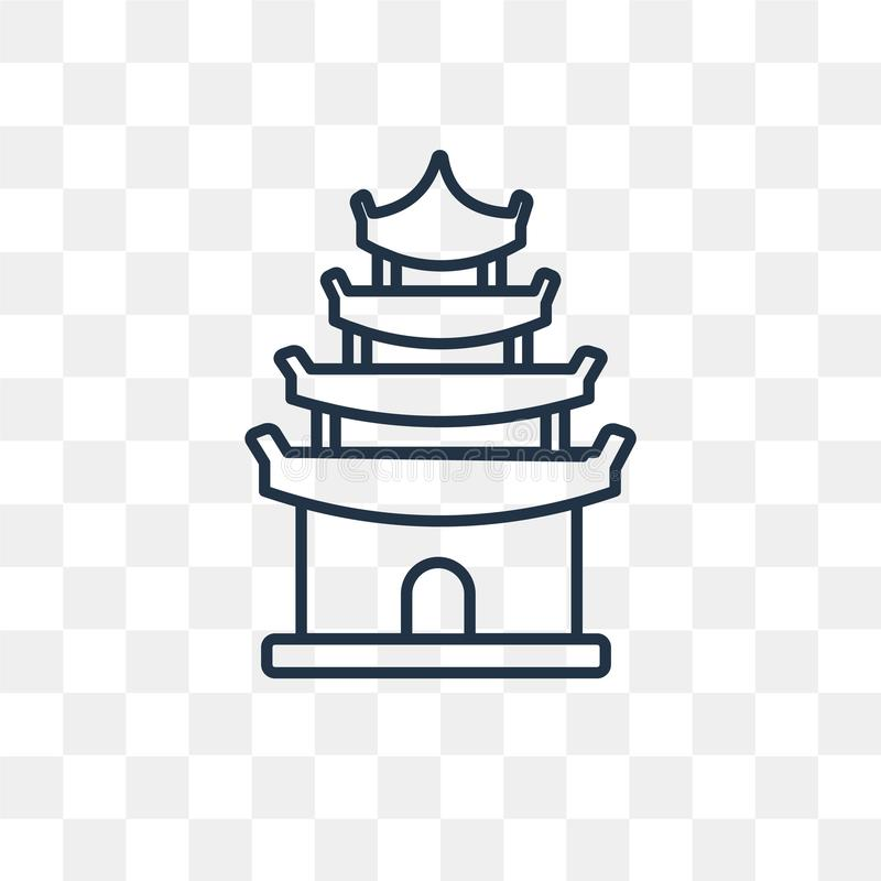 Pagoda Vector Icon Isolated On Transparent Background Linear Pa Stock Vector Illustration Of Japanese Buddhist 130109798