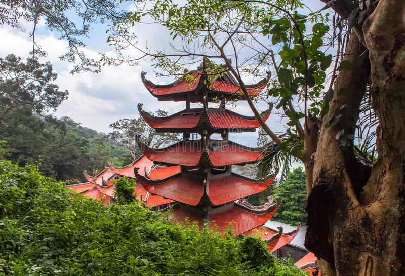 Pagoda in Vietnam. stock photos