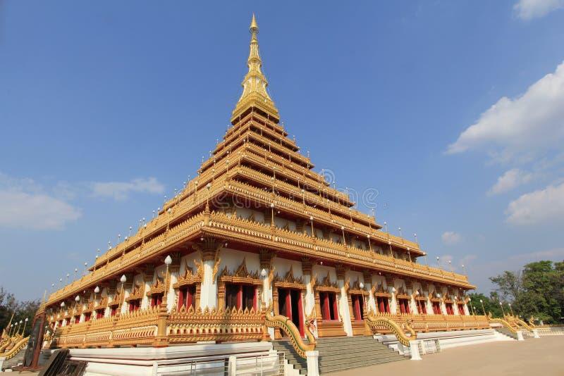 Pagoda at Wat Nongwang, Khon kaen Thailand. Golden pagoda at Wat Nongwang, Khon kaen Thailand stock photo