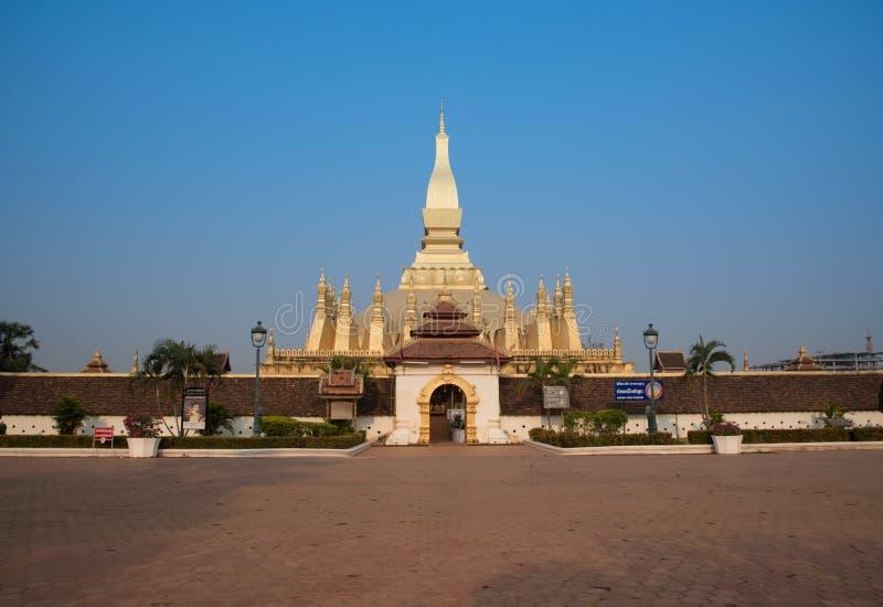 Pagoda Wat Pha That Luang Vientian fotografia stock