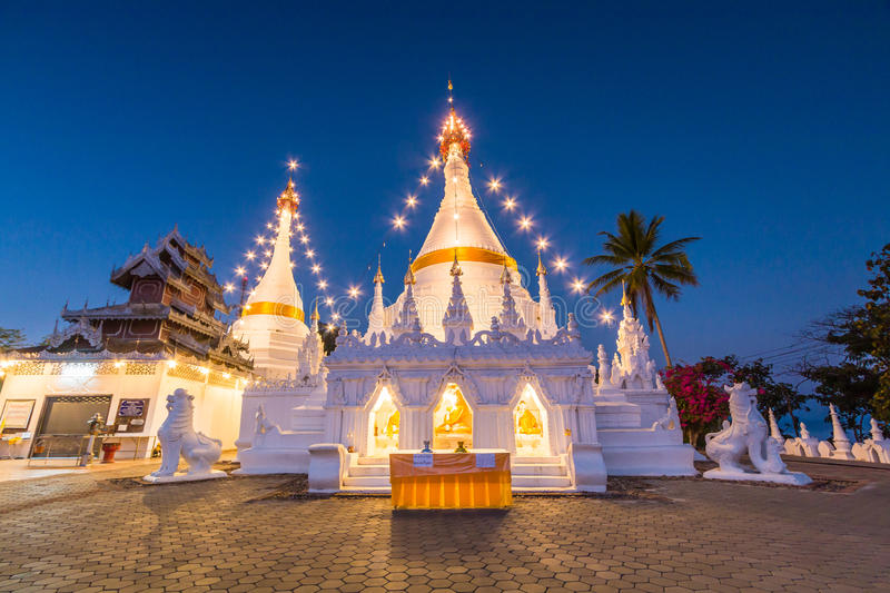 Pagoda at Wat Phra That Doi Kong Mu, Thailand. Wat Phra That Doi Kong Mu in Mae Hong Son province of Thailand stock photos