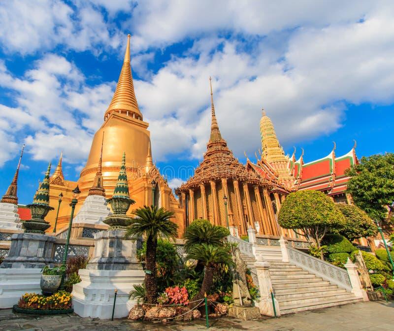 Pagoda a Wat Phra Kaew in Tailandia fotografia stock