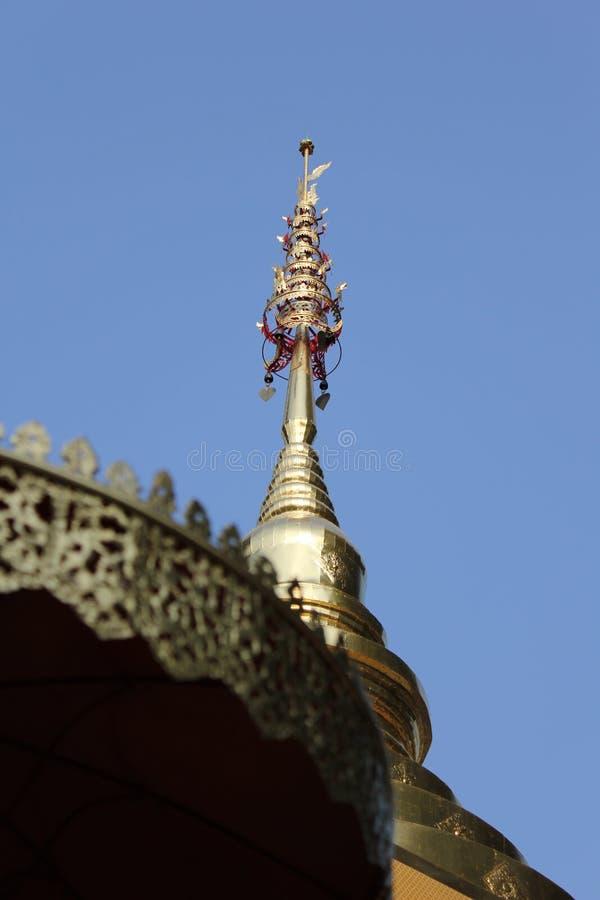 Pagoda in wat Sop Tui lampang royalty free stock photography