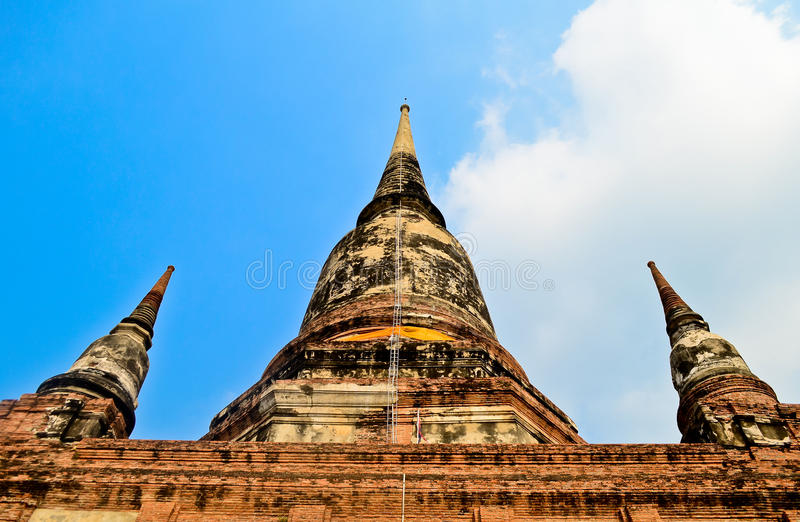 Pagoda at Wat Yai Chaimongkol. Ayutthaya, Thailand royalty free stock photography