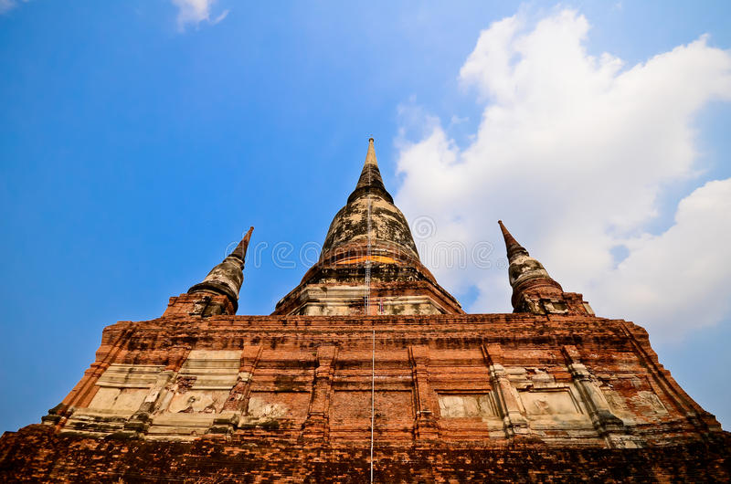 Pagoda at Wat Yai Chaimongkol. Ayutthaya, Thailand stock photo