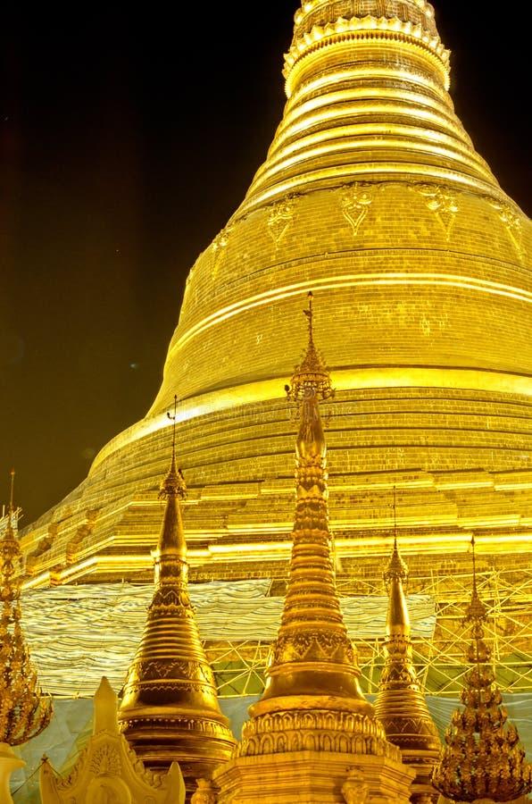Pagoda- Yangon de Schwedagon, Burma (Myanmar) fotos de stock royalty free