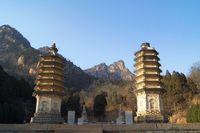 Pagodas 14 di Yinshan immagine stock libera da diritti