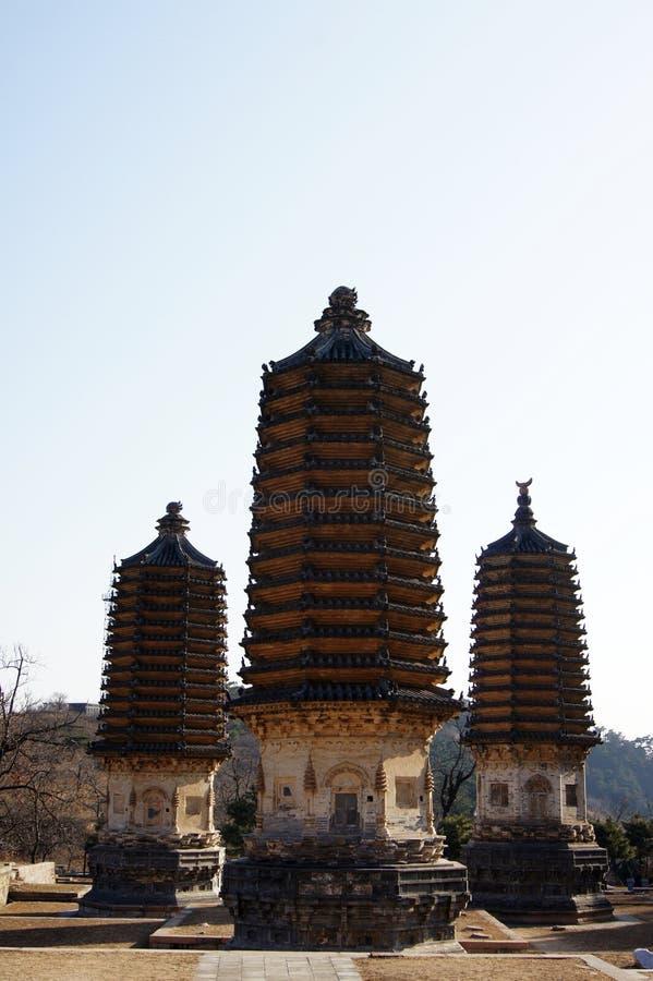 Pagodas 6 di Yinshan fotografia stock libera da diritti