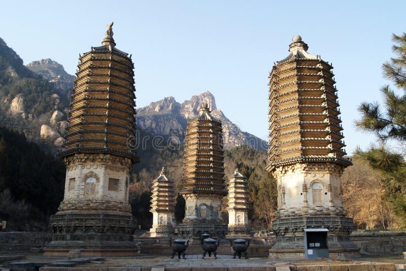 Pagodas 8 di Yinshan fotografie stock