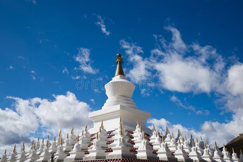 Pagodas bianchi tibetani fotografie stock