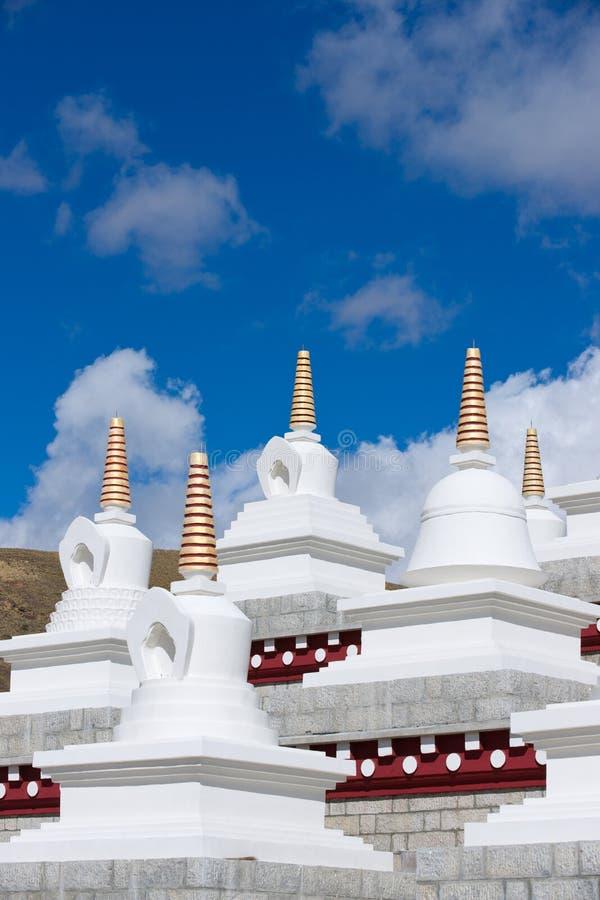 Pagodas blanches photos libres de droits