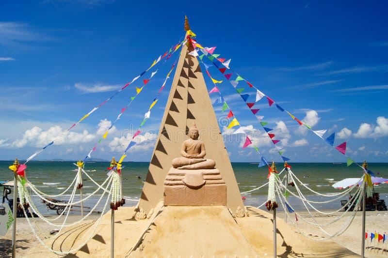 Pagodas de la arena imagen de archivo libre de regalías