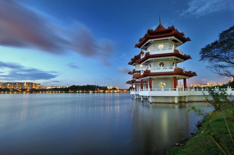 Pagodas di galleggiamento fotografie stock
