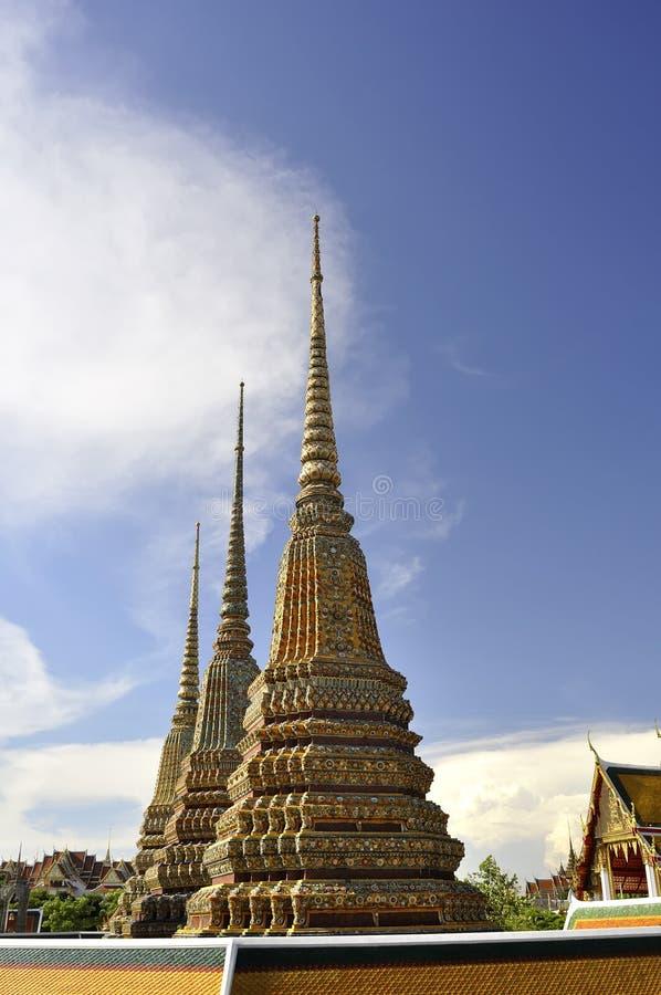 Pagodas em Wat Pho imagens de stock