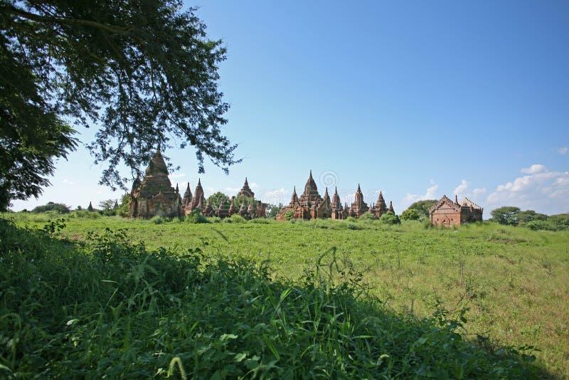 Pagodas en el campo de Bagan imágenes de archivo libres de regalías