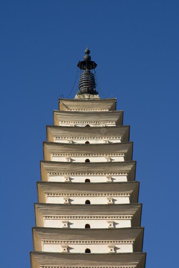 pagodas tre yunnan för porslincloseupdali arkivfoto