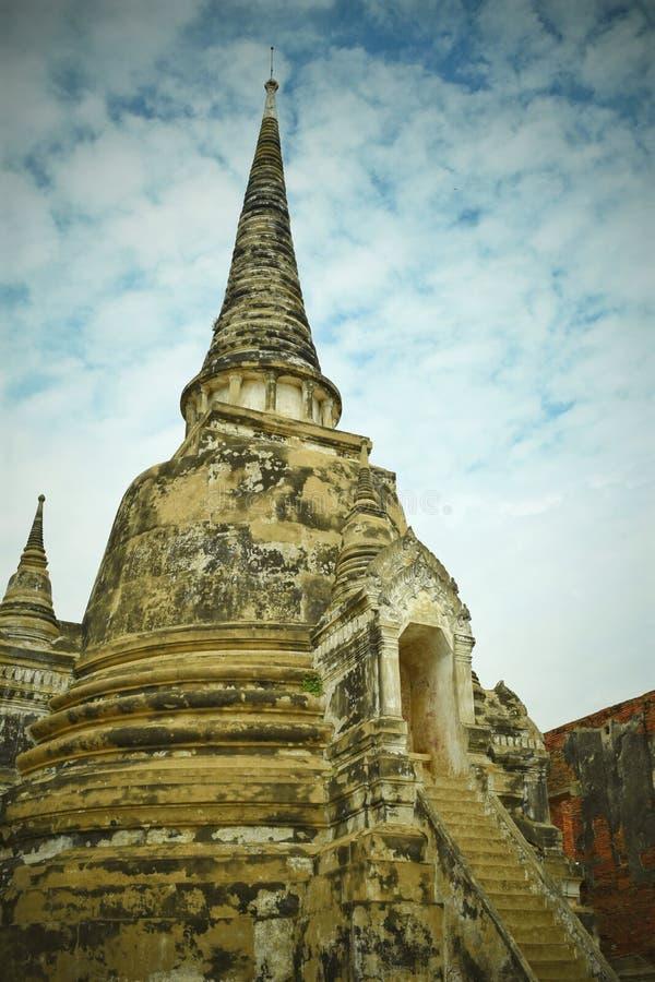 ` Pagode ` alte Überreste in Ayuthaya-historischer Stätte, Thailand stockfotografie