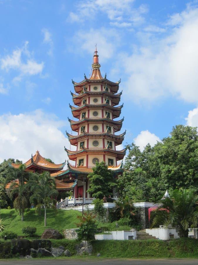 Pagode Avalokitesvara in Semarang stock afbeeldingen