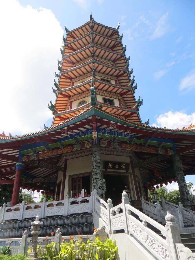 Pagode Avalokitesvara in Semarang stock afbeelding