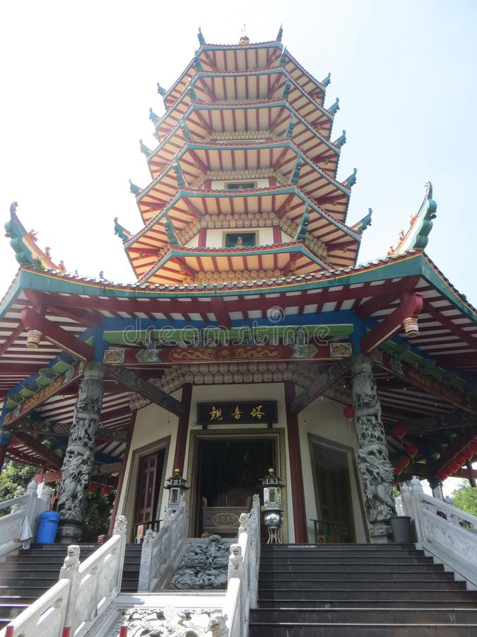 Pagode Avalokitesvara in Semarang royalty-vrije stock afbeelding