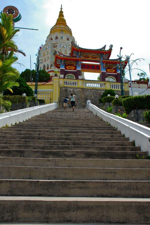 Pagode bij Si van Kek Lok, Penang stock foto