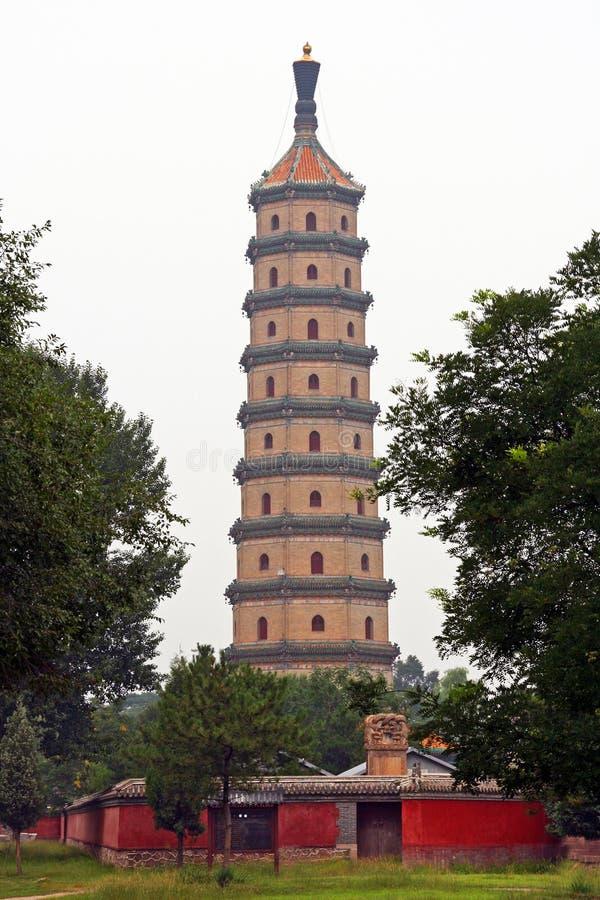 Pagode branco no complexo do palácio de verão em Chengde, ao norte de B imagem de stock royalty free