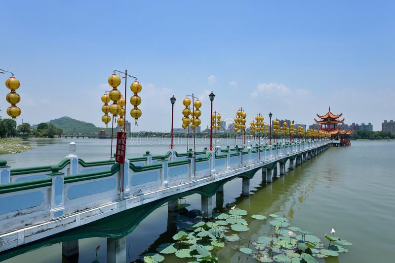 Pagode chinês em Kaohsiung fotografia de stock