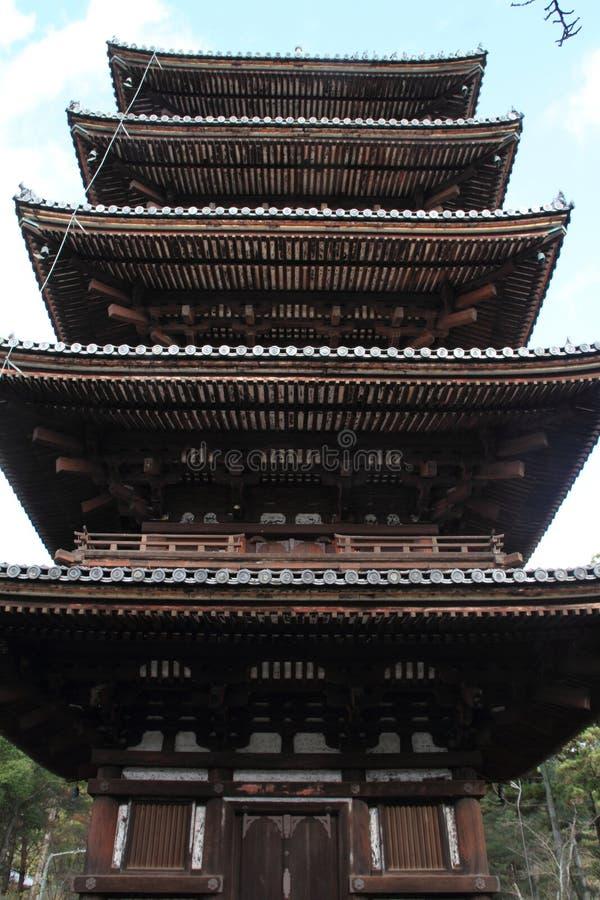 pagode da Cinco-história do ji de Ninna em Kyoto imagem de stock