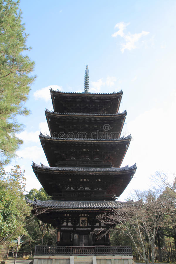 pagode da Cinco-história do ji de Ninna em Kyoto imagens de stock
