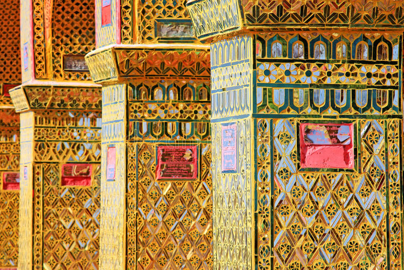 Pagode da SU Taung Pyai, Mandalay, Myanmar foto de stock royalty free