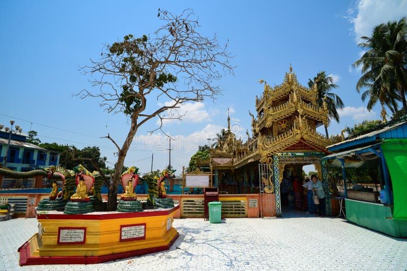 Pagode de Botataung em Yangon (Rangoon), Myanmar fotografia de stock