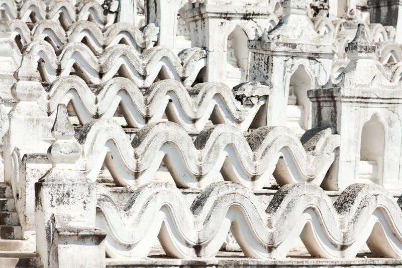 Pagode de Hsinbyume, Mingun, Myanmar imagens de stock royalty free