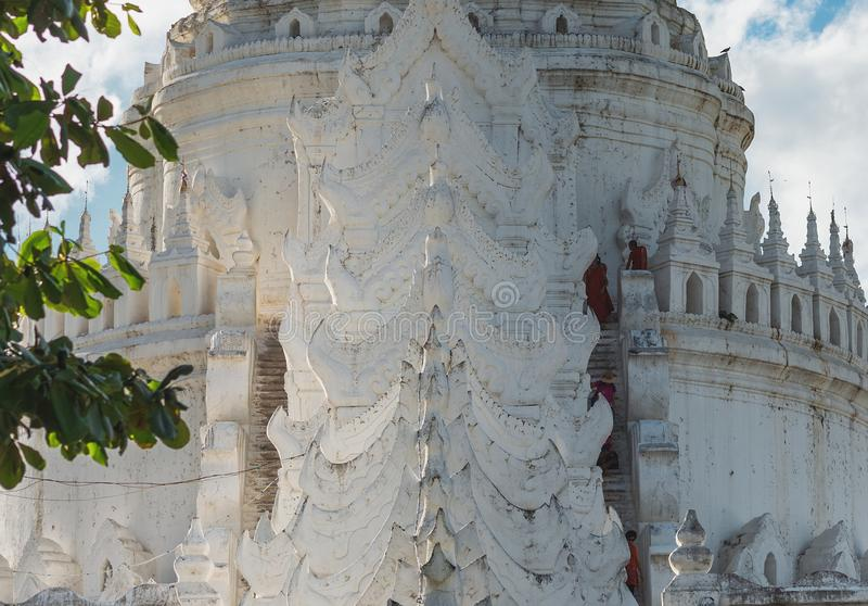 Pagode de Hsinbyume, Mingun, região de Sagaing perto de Mandalay, Myanmar imagem de stock