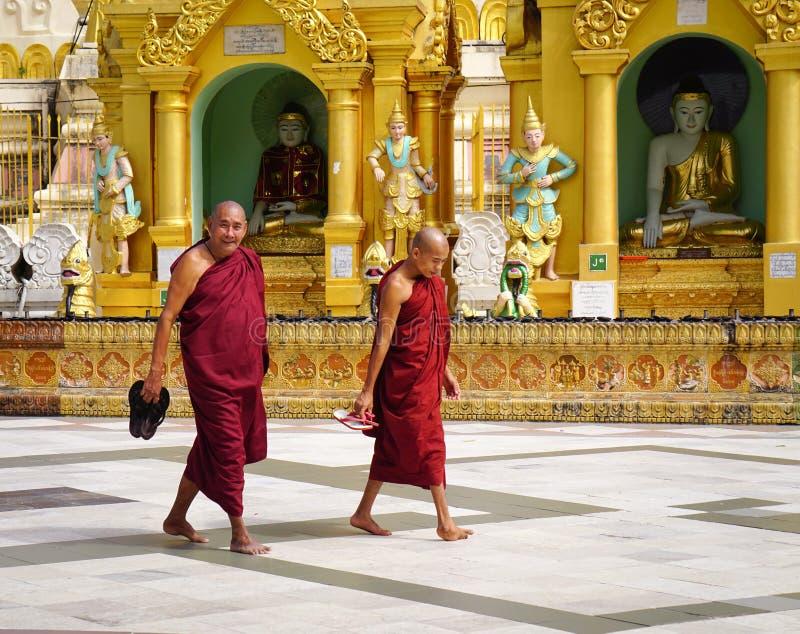 Pagode de Shwedagon em Yangon, Myanmar foto de stock royalty free